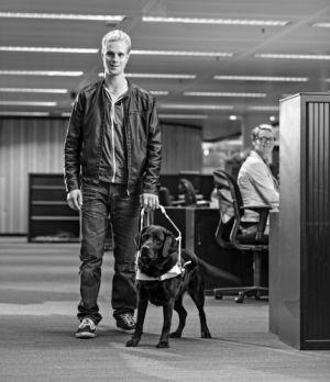 Blinde Gert-Jan en hond
