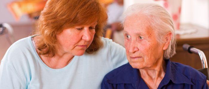 Mantelzorger en demente moeder