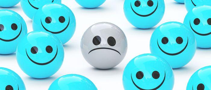 Depressie door de sociale druk om gelukkig te zijn