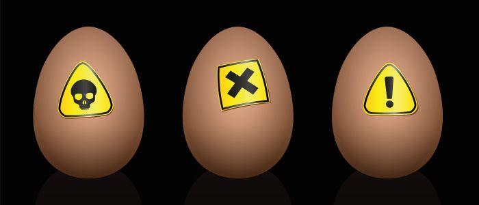 Eet geen eieren met specifieke eicodes!