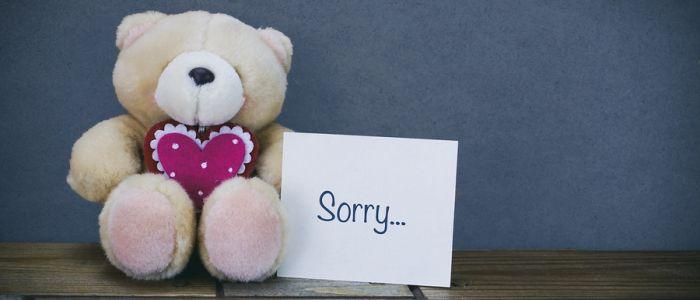 'Sorry' zeggen is beter dan duur cadeau